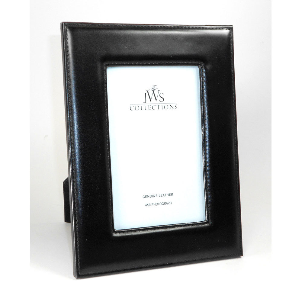 Black Leather Picture Frames - La Bella Fiona