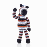 Pebbles - Zebra Baby Rattle