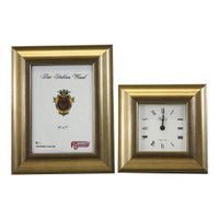 F. G. Galassi Gold Picture Frame and Alarm Clock
