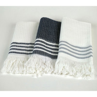 Turkish Jacquard Hand Towels - Set of 3