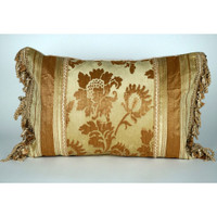Antiqua Floral and Striped Pillow