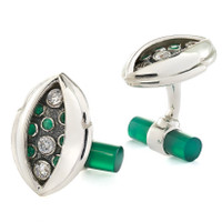 Tracey Mayer Green Onyx Cufflinks