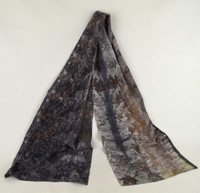 Ayn Hanna Hand Painted Silk Crepe de Chine Scarf - Eco Dark