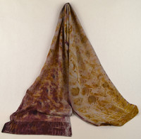 Ayn Hanna Hand Painted Silk Crepe de Chine Scarf -  Eco Warm