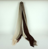 "Cashmere and Silk ""Dream Scarf"" - Chocolate"
