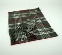 Cashmere Scarf - Gray Plaid