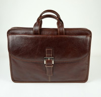 Torino Leather - Brown Portfolio Briefcase