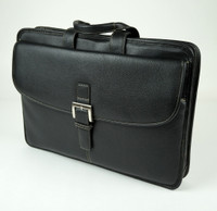 Torino Leather - Black Portfolio Briefcase