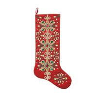 Kim Seybert Red Tiara Stocking