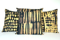 Windows and Stripes Pillow Grouping (3 Pillows)