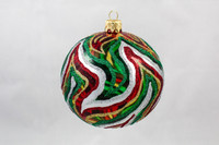 Thomas Glenn Red and Green Swirl Ornament