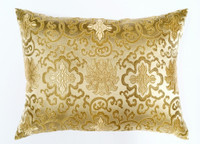 Deborah Main Design - Gold Brocade Pillow