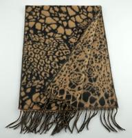Cashmere Scarf - Leopard Print