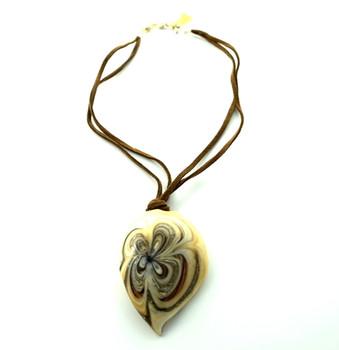 Murano glass earth flower shell pendant la bella fiona - Safari murano jewelry ...