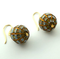 Murano Glass Murrine Round Earrings