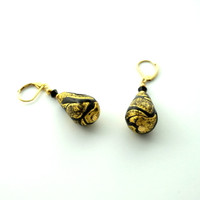 Murano Glass Moliere Tear Drop Earrings