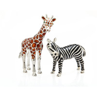 Godinger Giraffe/Zebra Salt & Pepper Shakers