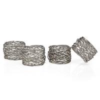 Godinger Round Mesh Napkin Rings