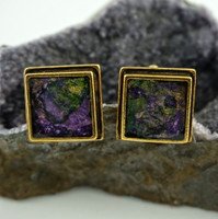 "Antique Gold Cufflinks - ""Alpha"""