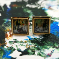 "Antique Gold Cufflinks - ""Karma"""