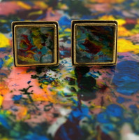 "Antique Gold Cufflinks - ""Nova"""