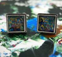 "Antique Silver Cufflinks - ""Cosmic"""