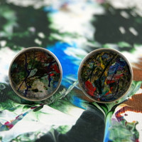 "Sterling Silver Cufflinks -""Zen"""