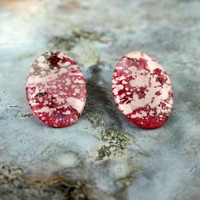 """Raspberry Parade"" Earrings"