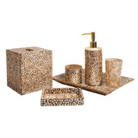 Pearl Dragon - Golden Hexagon Bath Accessories