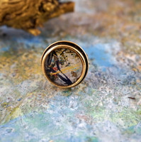 "Antique Gold Ring - ""Reflections"""