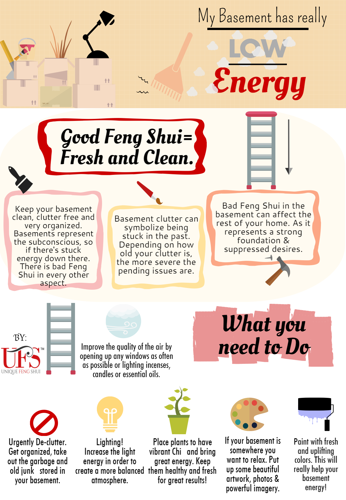 Organize Your Basement Clutter Using Easy Feng Shui Techniques