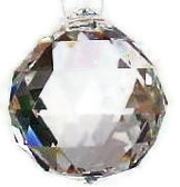 Faceted Crystal ball for Basements- Ready to hang