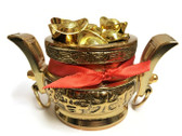 Metal Bowl with 8 Gold Ingots