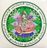 GREEN TARA AMULET STICKER - 2 stickers