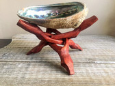 Abalone Shell with Natural Wooden Tripod Stand