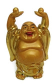 Buddha lifting wealth balls to overcome looses in job or business