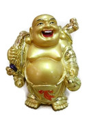 Buddha carrying rolled paper