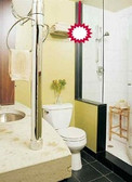 Cure a visible Toilet by hanging a Crystal Ball