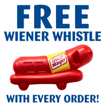 FREE Wiener Whistle with every order thru December 31, 2021
