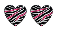 Zebra Heart Tennis Dampener 10 Pack