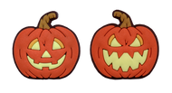 Halloween Pumpkin 2-Sided Tennis Dampener 10 Pack