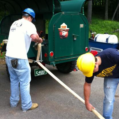 Easy hose rolling   Photo courtesy of the USDA