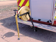 Rolling hose just became fun! Mount the MC 65 to the trailer hitch, not included, and make short work of that pile of dirty hose.
