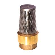 """1 1/4"""" Brass Foot Valve MODEL #FVB1 1/4"""