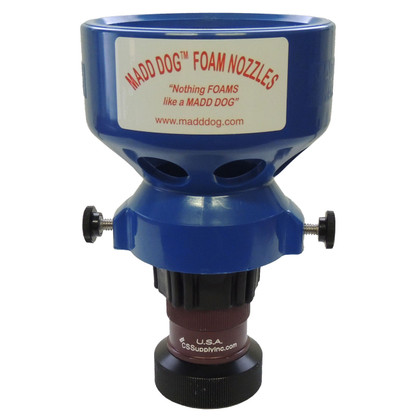 """1 1/2"""" dual range firefighting nozzle with low to medium expansion foam aspirator"""
