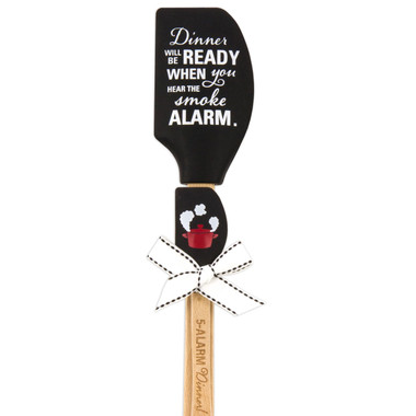"Dinner WILL BE READY WHEN you HEAR THE smoke Alarm"" Silicone Kitchen Buddies Spatula"
