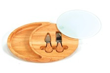 Oak and Olive Luna Rubberwood Cheese Board