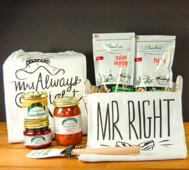 "Cherchies  ""Mr. Right and Mrs. Always Right"" Gourmet Hostess Gift Collection"