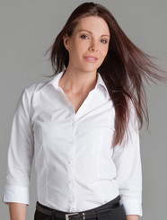 JB's Wear Ladies Urban 3/4 Sleeve Poplin Shirt