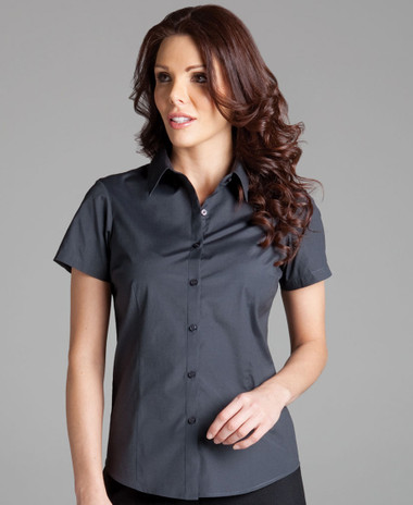 JB's Wear Ladies Urban S/S Sleeve Poplin Shirt